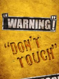 dont touch wallpaper