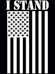 Amazon Com Dan S Decals I Stand For The Flag Decal American Flag Sticker Please Message Us For Custom Designs H 8 5 By L 6 Inches White Automotive