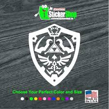Hylian Shield Zelda Window Decal Sticker Custom Sticker Shop