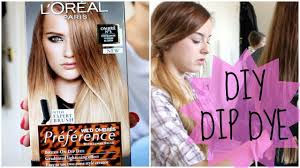 how to diy natural hair dip dye ombre