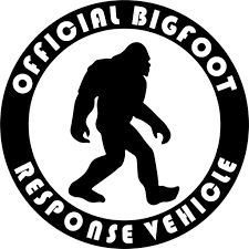 Amazon Com Kcd Bigfoot Response Vehicle Vinyl Decal Sticker Cars Trucks Vans Walls Laptops Cups Black 5 5 Inches Kcd906 Automotive