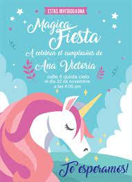 Tarjetas De Cumpleanos Unicornio Pinterest