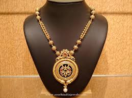 light weight gold antique necklace