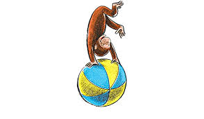 Amazon Com 8 Inch Curious George Beach Ball Decal Classic Storybook Monkey Removable Peel Self Stick Wall Sticker Art Decoration For Walls Laptop Yeti Tumbler Nursery Bedroom Home Decor 3 1 2 X 7