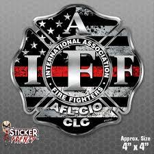 Firefighter Iaff Thin Red Line Sticker Vinyl Decal Flag Maltese Fire Fs2023 Ebay