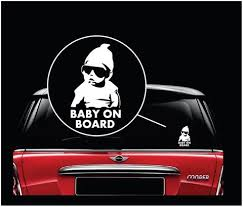 Baby On Board Sticker Decal Safety Caution Sign For Car Windows Carl Totomo Us