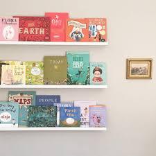 Organizing Kids Books By Color Ikea Mosslanda Ledges Kids Room Bookshelves Organizing Kids Books Nursery Book