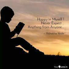 happy in myself never e quotes writings by vishakha yeole