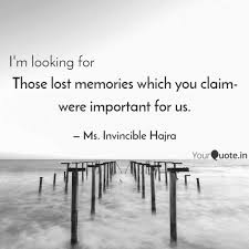 those lost memories which quotes writings by bagdadi hajra