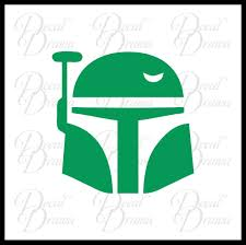 Boba Fett Helmet Star Wars Inspired Fan Art Vinyl Wall Decal Decal Drama