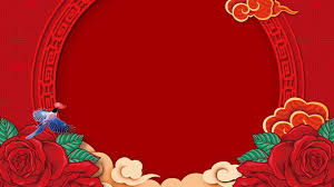 chinese festive wedding background red