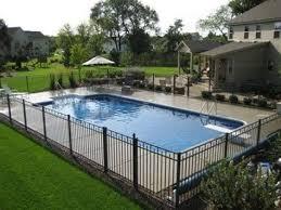 Stylish Pool Fence Ideas In 2020 Inground Pool Landscaping Backyard Pool Landscaping Pools Backyard Inground