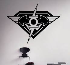 Flash Wall Vinyl Decal Superhero Emblem Wall Sticker Home Etsy
