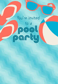 Pool Party Invitation Free Printable Summer Party