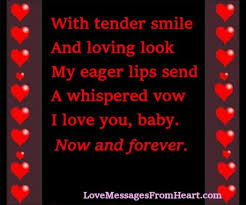 i love you baby love messages from