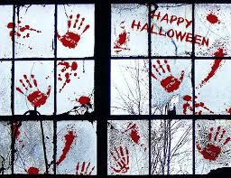 Amazon Com 91 Pcs Bloody Halloween Window Clings Vampire Zombie Party Handprint Decals Decorations Home Kitchen