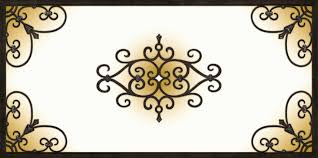 tuscan iron style light panel covers