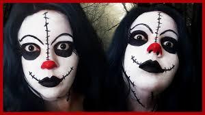 creepy clown doll halloween makeup