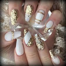 coffin nails gold new expression nails