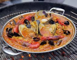 Grilled Seafood Paella – Andrew Zimmern