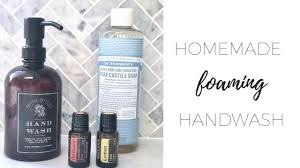 homemade foaming hand wash claire k