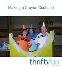 making a crayon costume thriftyfun
