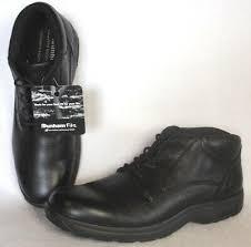 black leather waterproof chukka boot