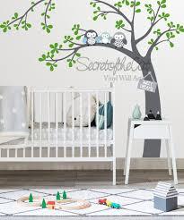 Nursery Wall Decal Corner Tree Decal Baby Tree Wall Decals Etsy