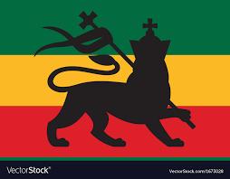 rastafarian flag with the lion of judah