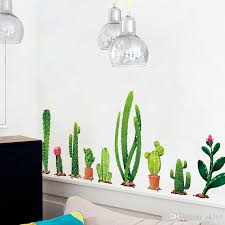 Many Types Of Cactus Green Plants Wall Stickers Living Room Bedroom Background Home Decoration Mural Decal Wall Decor Wallpaper Name Wall Decals Name Wall Stickers From Qiansuning88 16 54 Dhgate Com