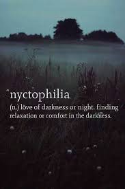 this is me i love the being in the dark and gazing at the night