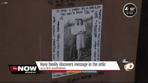 Navy family buys home, finds hidden message in the attic