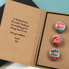personalised gift badge card for dad by