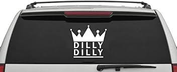 Amazon Com Dilly Dilly Decal Crown Car Decal Dilly Decal Bar Decal Crown Wall Sticker Funny Decal Game Room Decor Bar Decor Home Kitchen