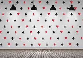 Poker Decal Wallpaper Decals Playing Card Decal Texas Holdem Decal Suits Decal Heart Spade Diamond Club Decal Game Wall Decals Game Room Decor Baby Room Decals