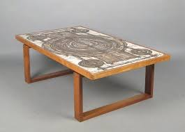 vintage teak tiled coffee table by ox