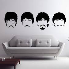Beatles Wall Decals New Designs Removable Music The Beatles Vinyl Wall Stickers Home Decor Black 58 Beatles Room Decor Beatles Wall Wall Stickers Home Decor