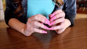 asmr long nails scratching skin
