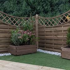Mercia Norton 5ft High Horizontal Weave Concave Fence Panel Elbec Garden Buildings