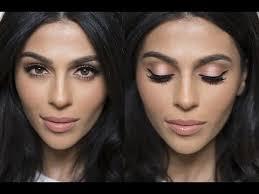 peach shimmer makeup tutorial natural