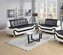 piece modern bonded leather sofa