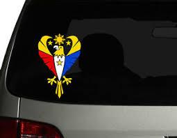 Filipino Vinyl Car Decal Sticker 8 H With Eagle 2 Philippine Flag Design Ebay