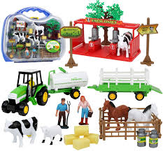 Amazon Com Kiddie Play Farm Toys Set With Farm Animals For Toddlers 25 Pieces Toys Games