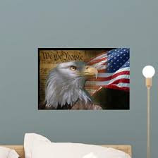 Bald Eagle And American Wall Decal Wallmonkeys Com