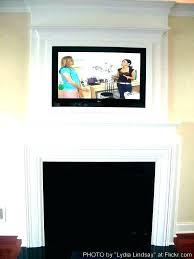 flat screen fireplace modify