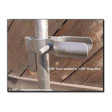 Drop Rod Latch For Double Chain Link Fence Gates 1 5 8 Or 2 Fork H 0183 Hoover Fence Co