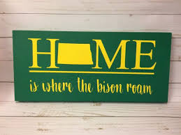 Ndsu Bison North Dakota Home Sign By Fargomadecrafts On Etsy Ndsu Bison Ndsu Bison Football North Dakota Bison