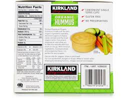 kirkland organic hummus 20 x 2 4 oz
