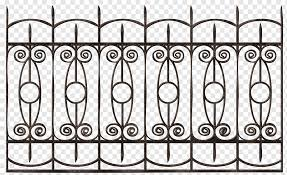 Fence Wrought Iron Gate Chain Link Fencing Fence Angle Fence Monochrome Png Pngwing