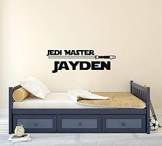 Amazon Com Personalized Boy Name Wall Decal Star Wars Room Decor Star Wars Vinyl Wall Decals Stickers For Kids Room Children Removable Wall Decals Home Kitchen
